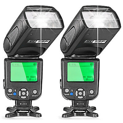Neewer 2pcs Nw-562 Gn58 E-ttl Master Slave Flash Speedlit...