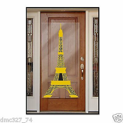 Perfectly PARIS Party Decoration EIFFEL TOWER Door Cover Mural Photo Booth - Paris Photo Booth Props