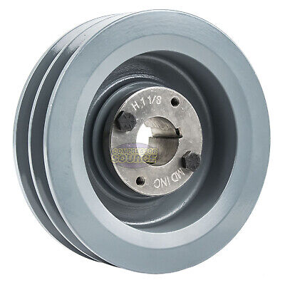 B Section Dual Groove 2 Pc 6 Pulley W 1-18 Sheave Shiv Cast Iron 5l V Belt