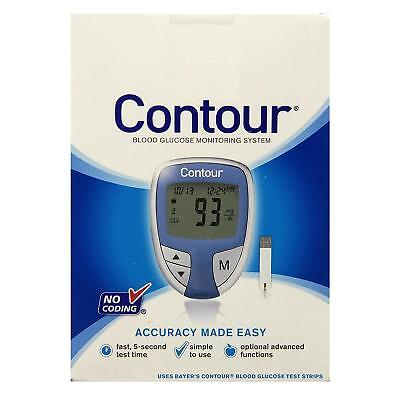 Bayer Contour Blood Glucose Monitoring System No Coding  Blue Color