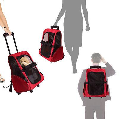 PawHut 2in1 Hundetrolley Transporttasche Trolley- und Rucksackfunktion für
