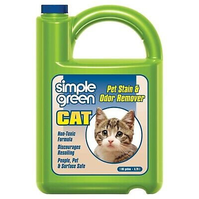 Simple Green Cat Stain & Odor Remover - Enzyme Cleaner for Cat Urine, Feces, ...
