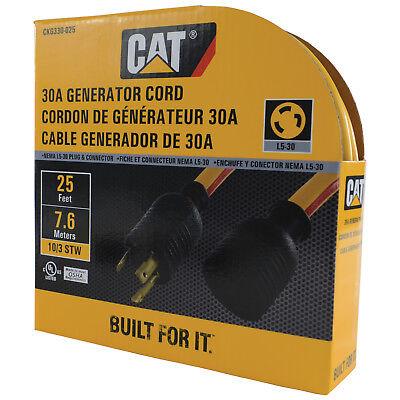 Caterpillar Cat Ckg330-025 L5-30 3 Prong 30 Amp Generator Extension Cord 25ft.