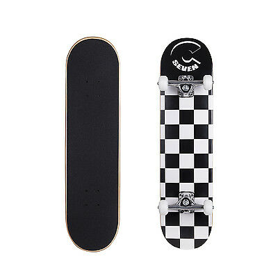 "Cal 7 Popsicle 7.5"" Double Kicktail Concave Maple  7 Ply Checkerboard Skateboard"