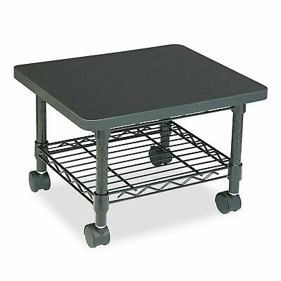 Printer Fax Stand Low-profile Fixed Steel Wire Shelf Under Desk Cart Black