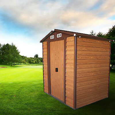 6'x5' Storage Shed Garden House Tool Outdoor Steel Utility Yard Building Lawn