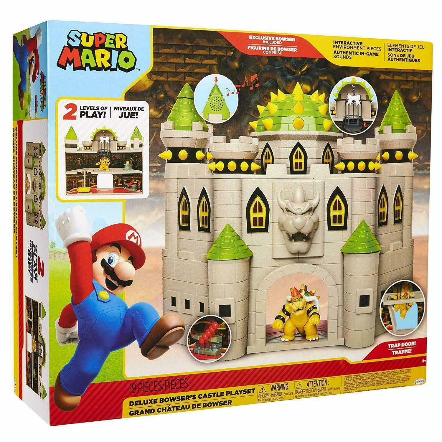 Nintendo Super Mario Deluxe Bowser's Castle Playset NEW & SE