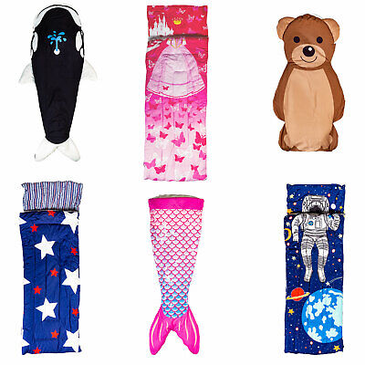 Kids Sleeping Bags (Kids Sleeping Bag Indoor Outdoor Camping Boys Girls Sleeping Bags)