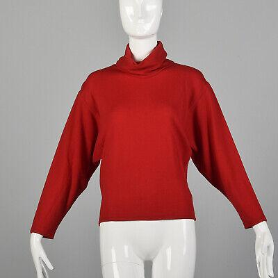 80s Sweatshirts, Sweaters, Vests | Women S 1980s Red Turtleneck Sweater Batwing Sleeves Lightweight Oversize Knit 80s VTG $51.00 AT vintagedancer.com