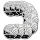 1 oz APMEX/Republic Silver Rounds - Lot of 10