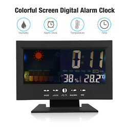 Forecast Temperature LCD Weather Station Alarm Calender/Clock Thermometer