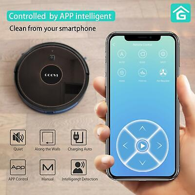 GOOVI D382 1600PA Robot Vacuum Cleaner with WiFi Connectivity