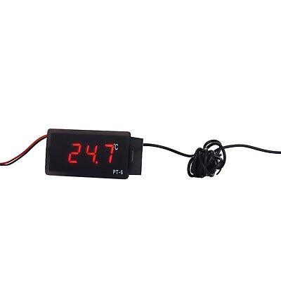 Vehicle Digital Thermometer Car Led Temperature Meter Probe -40110 Centigrade