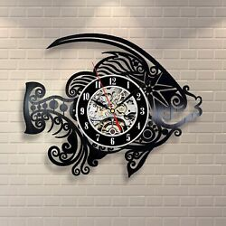 Fish Mordern Handmade Decor Vinyl Record Wall Clock