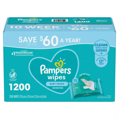 Pampers Scented Baby Wipes, Complete Clean (1200 ct.) Free Shipping