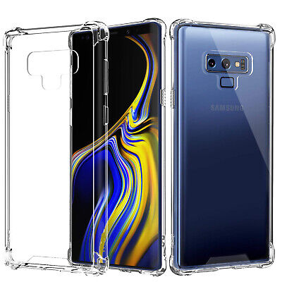 Crystal Clear Hard Case Cover With Soft TPU Frame For Samsung GALAXY Note 8 9 Clear Crystal Hard Case Cover