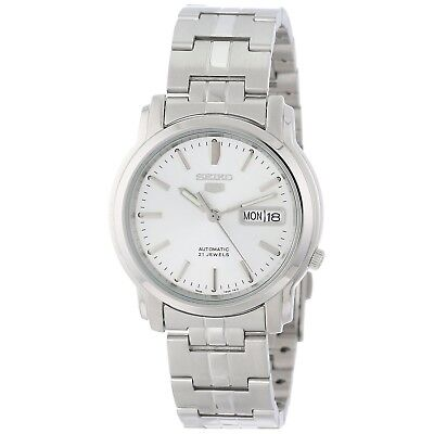 Seiko Men's SNKK65 Seiko 5 Automatic Stainless Steel Watch with Silver-Tone Dial