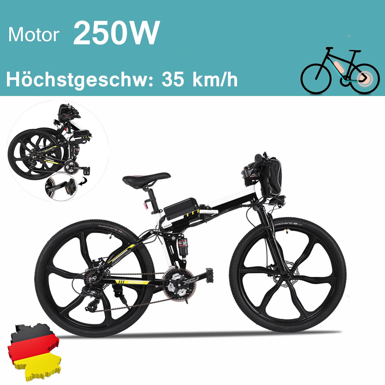ANCHEER ebike 26''Zoll Elektrofahrrad Falten Mountainbike Pedelec Shimano 35km/h