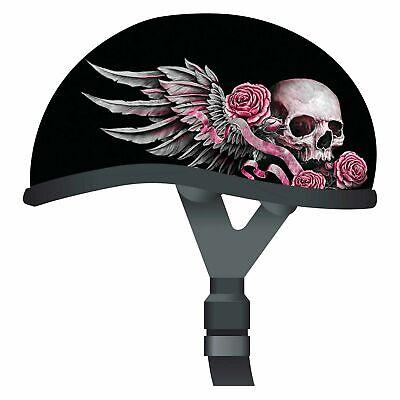 Skid Lid Lethal Threat Designs Womens WILD ONE Half Helmet HARLEY CRUISER -