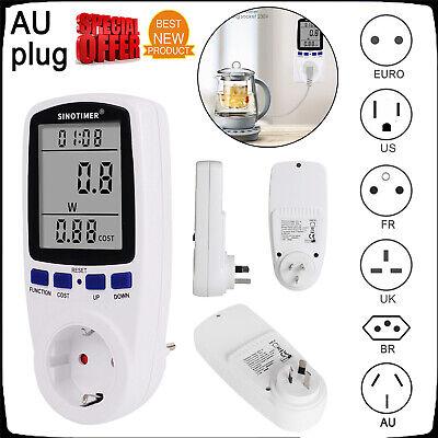Plug In Power Meter Electricity Analyzer Monitor 50hz Voltage Wattmeter Charge