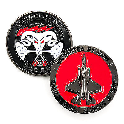 Usaf Lockheed Martin F 35A Lightning 34Th Fighter Sq Rude Rams Challenge Coin