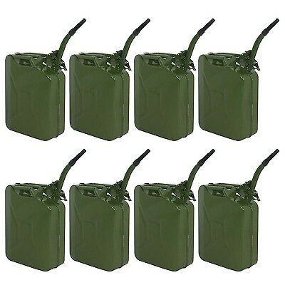 8pcs 20L 5 Gallon Green Jerry Can Fuel Gasoline Backup Steel Tank  Military Business & Industrial