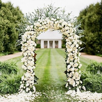 Wedding Arch Party Prom Garden Flower Sturdy Decoration 7.9ft Metal Army Green - Decorative Arch