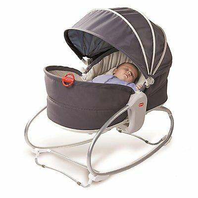 Tiny Love 00511-003 Cozy Rocker Napper With Adjustable Canopy In Grey NEW