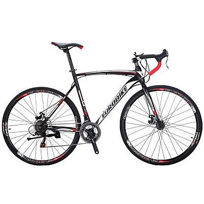 Road Bike 21 Speed Mens Bikes 700C wheels Bicycle Disc Brakes 54cm Upgraded
