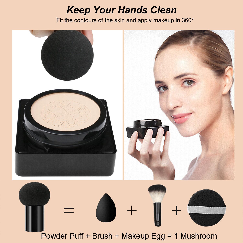 Air Cushion BB CC Cream Concealer Moisturizing Foundation Makeup W Mushroom Head Face