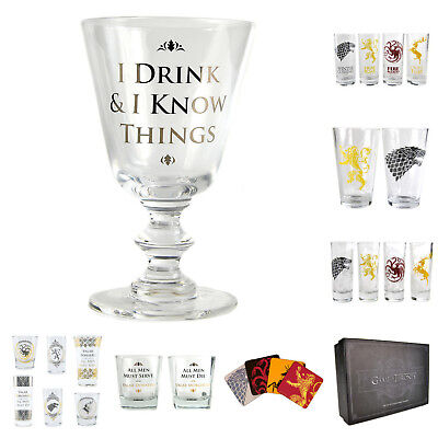 Game of Thrones Gläser Schnapsgläser Weinglas GoT Glas Schnapsglas Geschenksets (Game Of Thrones Zubehör)