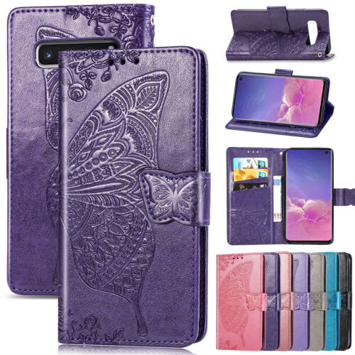 For Samsung Note 10 Plus S10 S8 S9 Emboss Magnet Leather Wal