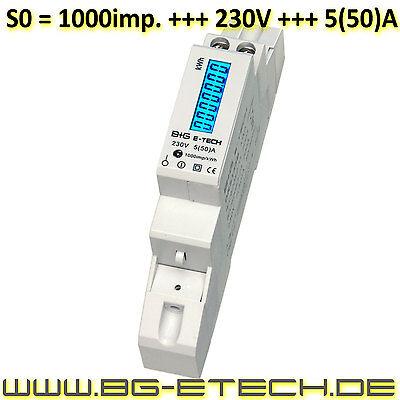 LCD Wechselstromzähler Stromzähler 5(50)A S0 LCD Hutschiene Wirkleistungszähler