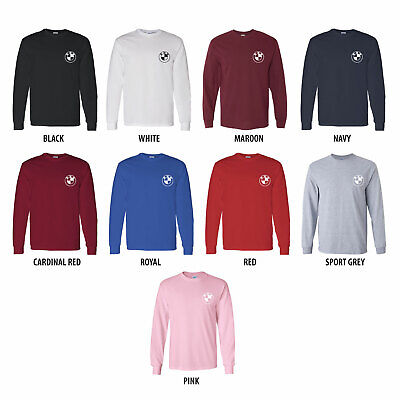 BMW Custom Mens Long Sleeve T-Shirt Tee Choose Color Custom Long Sleeve Tee