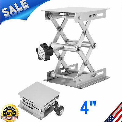 New 4 Stainless Steel Lift Platform Laboratory Lifter Stand Lab Jack Scissor Us
