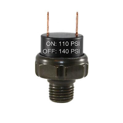 110-140psi Air Pressure Switch Tank Mount Thread 14 Npt 12v24v For Train Horn