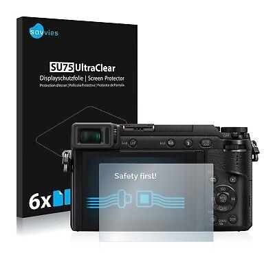 6x Displayschutzfolie Panasonic Lumix DMC-GX80 Schutzfolie Folie Displayfolie