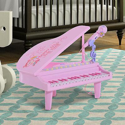 Kinder Klavier Kinderpiano Keyboard Piano Musikinstrument MP3 32 Tasten rosa ABS