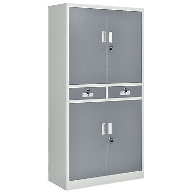 Aktenschrank Metallschrank Büroschrank Lagerschrank grau - B-Ware
