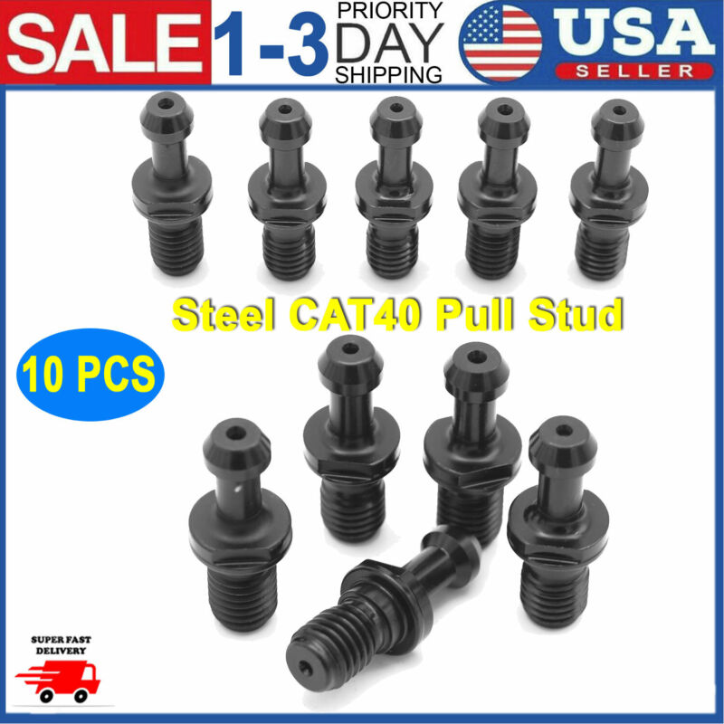 10 PCS STEEL CAT40 PULL STUD RETENTION KNOB FITS ANY HAAS CAT40 CNC NEW