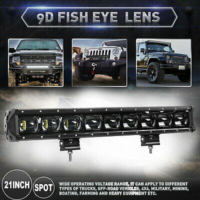 21INCH 9D Single Row Driving Light Off Road LED Light Bar for Truck JEEP 20/22'' - Off Road Single