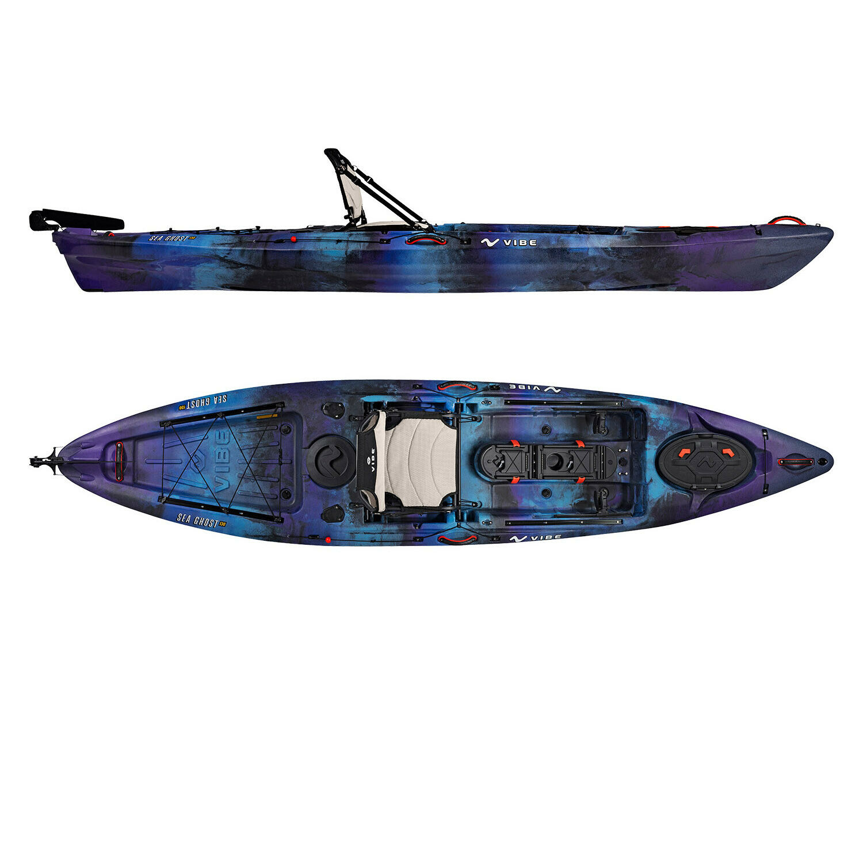 Vibe Sea Ghost 130 13' Pro Fishing Kayak | Rudder + Storage