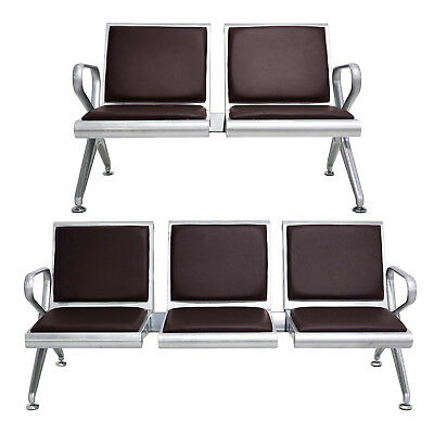 2 Seat 3 Seat Waiting Chair Reception Room Bench Pvc Leather Heavy Duty Airport