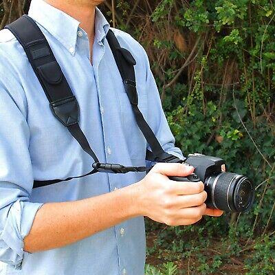 Canon Nikon Fujifilm Sony Camera Strap Chest Harness Adjustable Padded Straps