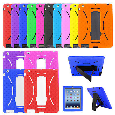 Ipad 2 Case Cover - Heavy Duty Rugged Hybrid Shockproof Armor Case Cover Stand for Apple iPad 2 3 4
