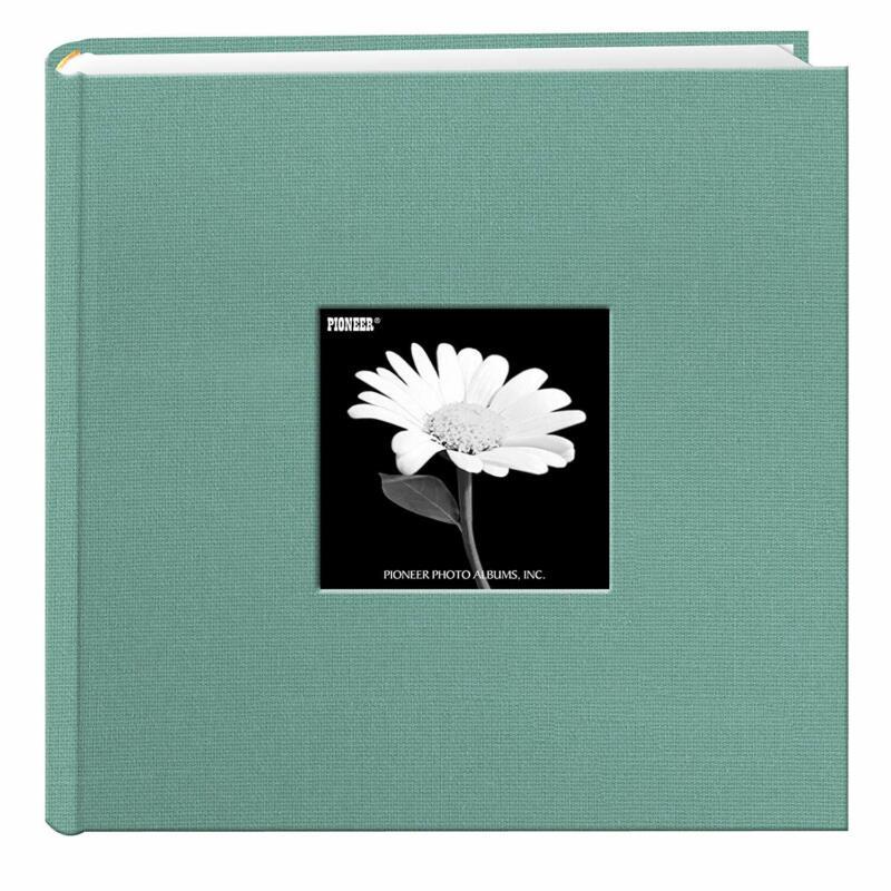 Fabric Frame Cover Photo Album 200 Pockets Hold 4x6 Photos, Tranquil Aqua