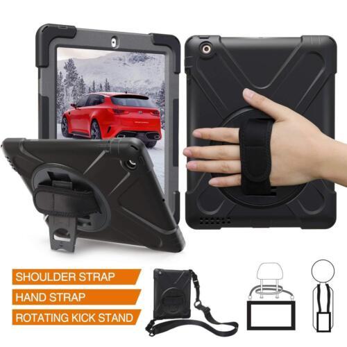 Shockproof Hand Shoulder Strap Case For iPad 2 3 4 Mini 1 2