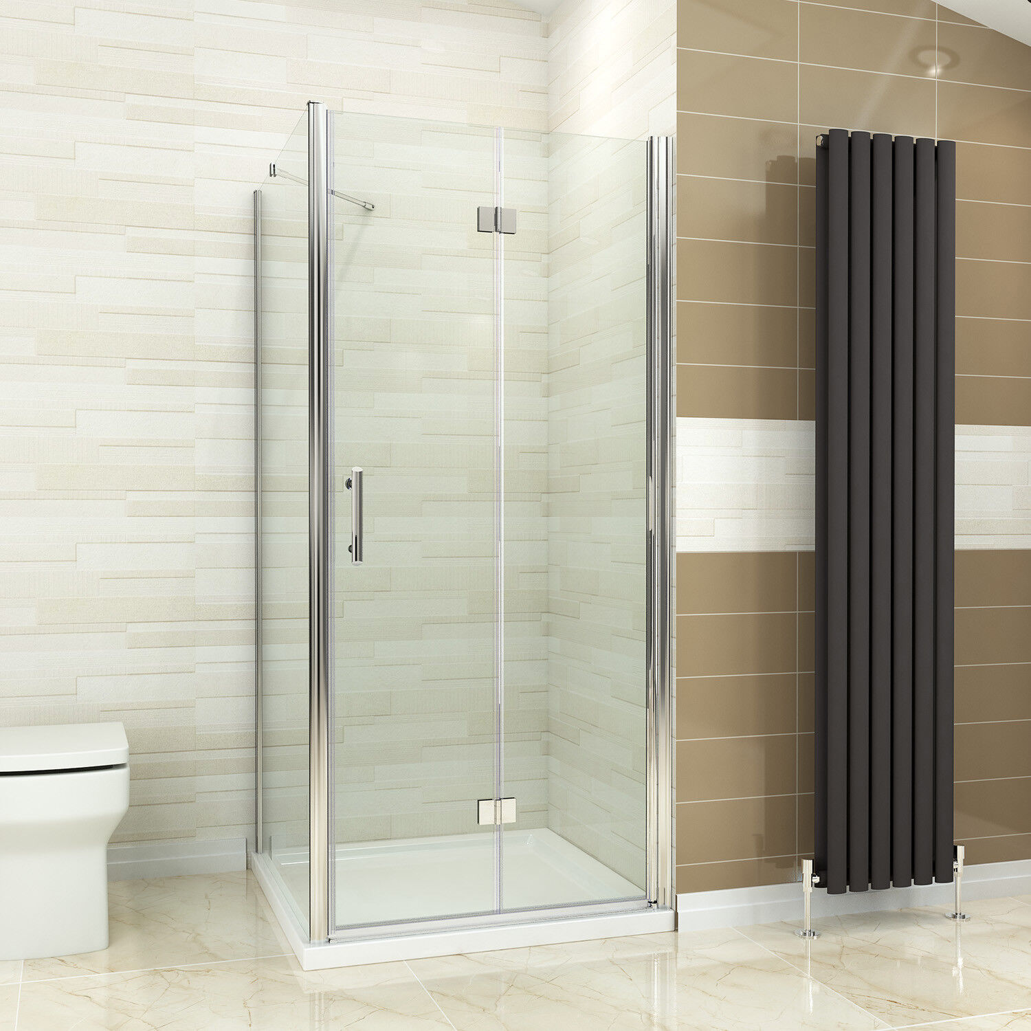Details About Frameless Shower Enclosure Bifold Door Side Panel And Tray 700 760 800 900 100
