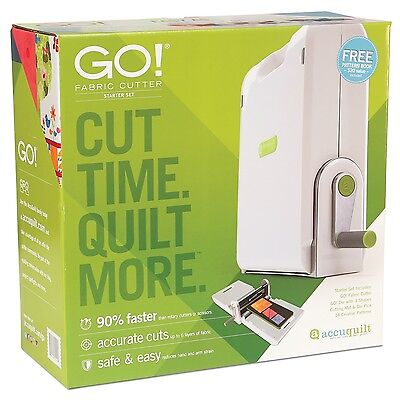 AccuQuilt GO! Fabric Cutter Cutting System+Die+ Mat+ NEW Smoother Rolling Action