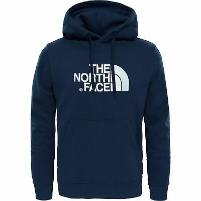 The North Face Men's Drew Peak Cotton Casual Hoody Hoodie Pullover Top Blue